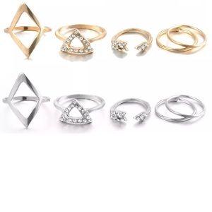 ✨New! 5 Piece Boho Girl Midi Ring Set